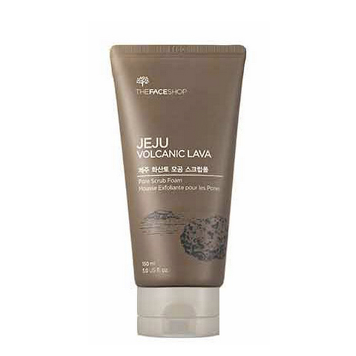 Пенка - скраб с вулканическим пеплом The Face Shop Jeju Volcanic Lava Pore Scrub Foam